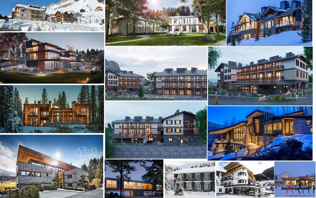 Проект гостиницы (отеля) для базы отдыха - АРХ1 Архитектура