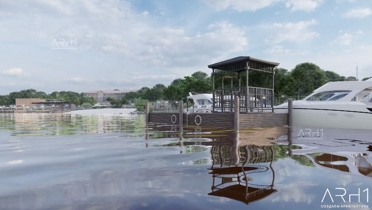 База отдыха (турбаза) с пляжем у реки - АРХ1